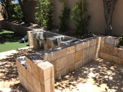 Existing Cinder Block Outdoor Kitchen Structure